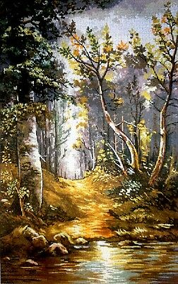 "Tapestry Gobelin Needlepoint Kit ""The forest""  printed canvas 075"