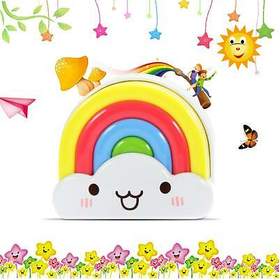 Cute Mini Rainbow LED Night Light Lamp For Baby Kids Nursery Wall Decor Gift