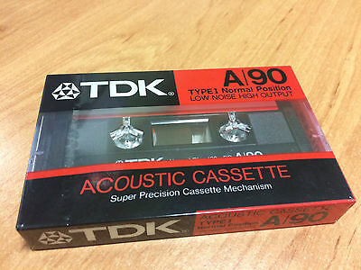 TDK A/90 (Type I)  Audio Cassette Tape (Made in Japan) ©1986