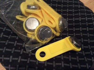EXAKTIME travel key ktabs for exactime yellow lot for jobclock system 25$ for 10