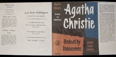 ORDEAL BY INNOCENCE - 1958 by Agatha Christie - Facsimile Dustjacket Only