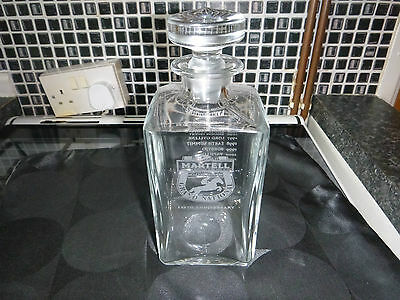10Th Year Anniversary Martell Grand National Brandy  Decanter