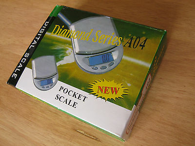 Digital Pocket Scales 0.1g Diamond Series A04 500g Herbs Jewellery Powder Salts