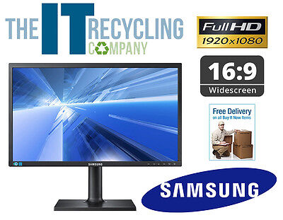 "Samsung S24C450Bw 24"" Full Hd Flat Screen Lcd Monitor - Vga + Dvi - Widescreen"