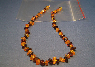 Genuine Baltic Amber Baby Necklaces Mixed Color