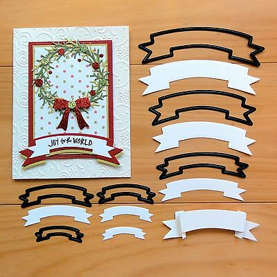 """CRAFT CONCEPTS NESTING DIES Banners Labels Christmas Birthday """"SPECIAL""""  BNIP"""