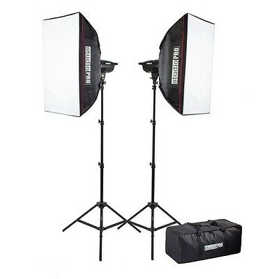StudioPRO 400 Watt Monolight Strobe Flash Photography Lighting Kit for Wedding,