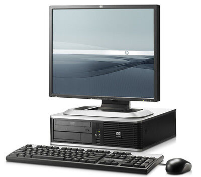 Full Dual Core Desktop Tower Pc & Tft Computer With Windows 10 & Wifi & 4Gb