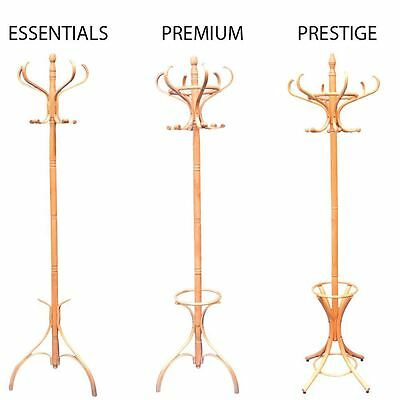 Coat Stand Oak Hook Coat/Hat/Jacket/Umbrella Standing Bentwood Hanging Rack