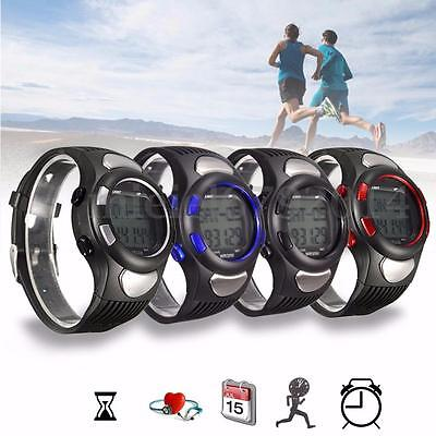 3D Sport Wrist Watch Pulse Heart Rate Monitor Pedometer Calories Counter Fitness