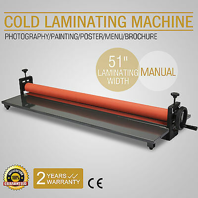 "51"" 1300Mm Cold Laminator Laminating Machine Wide Format Poster Fold-Up Great"
