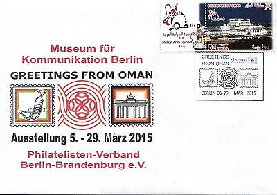 Germany & Oman 2015  ( Berlin ) Joint stamp Exhibition cover No 3 of 3