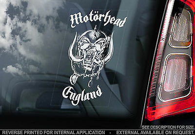 Motorhead - Car Window Sticker - War Pig England Snaggletooth Rock Lemmy Sign