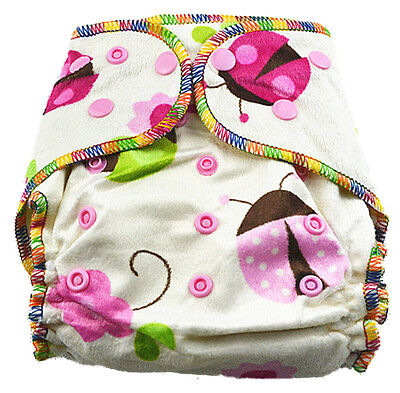 Top Quality Sleepy Nights Minky Modern Cloth Nappy Baby Girly Girl Hairy Nappies