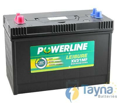 Batterie à cycle profond 12V POWERLINE Leisure Caravan Marine Boat 500 Cycles