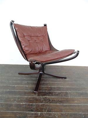 DANISH FALCON CHAIR SIGURD RESSELL RETRO 60s 70s MIDCENTURY MID BROWN #1195