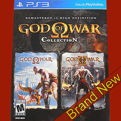 GOD OF WAR Collection Remastered in HD - PlayStation 3 PS3 ~ Brand New