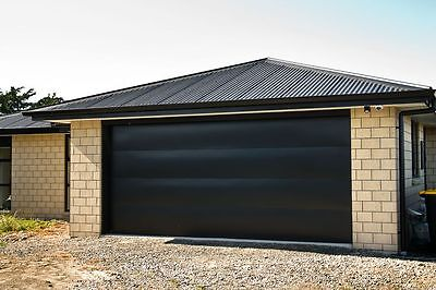 Brand new Black RAL9005 40mm Insulated Sectional Garage Door with 2 x remotes
