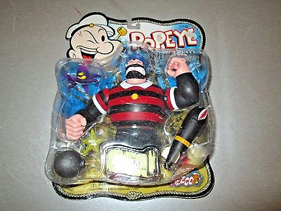 Mezco Popeye Action Figure Classic Bluto Torpedo Toss Super Rare Pack Rough