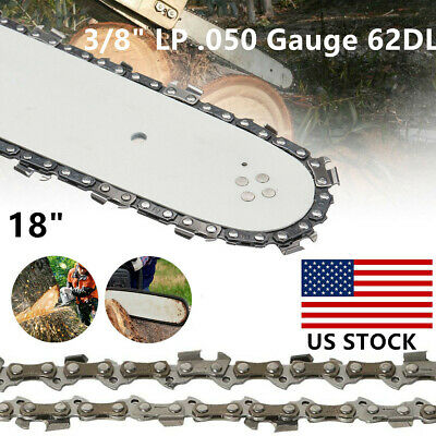 """18"""" Chainsaw Saw Chain Blade Sears 3/8"""" LP .050 Gauge for Poulan Craftsman 62DL"""