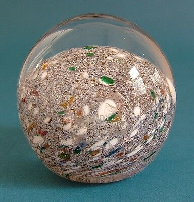 Cowdy Glass Multicoloured Paperweight by Pauline Solven with Original Sticker