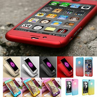 Handyhülle iPhone 5 6 7 8 Samsung Galaxy S6 S7 A3 A5 2017 Panzerglas Full Cover