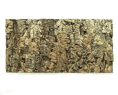Natural Cork Tile Panel Background Rear Wall 3D Terrarium Vivarium 60 x 30 cm