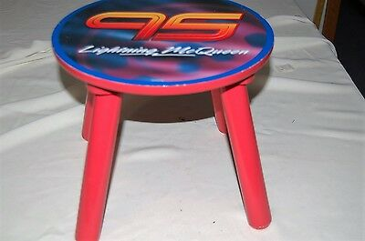 Disney Cars Lightning Mcqueen 10 Inch Tall 4 Leg Stool With Number 95 For Table