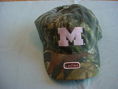 Nwt Ladies Michigan Wolverines Camo Hat Baseball Cap