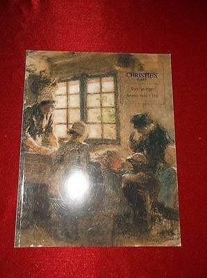 Christie's East Works On Paper March 9, 1996 Vintage Arts Catalog Vf Free Ship