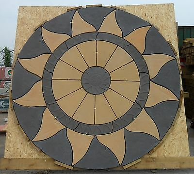 Aztec Circle Patio Slabs - 2.56m