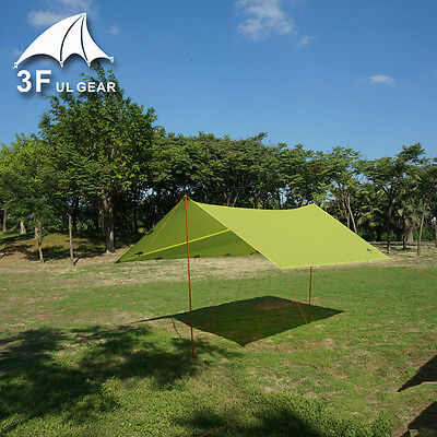 3F UL Gear Ultralight Mini Silnylon waterproof backpacking tarp GREEN