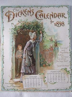 Die Cut Victorian Dickens Calendar for 1898 antique by Ernest Nister London