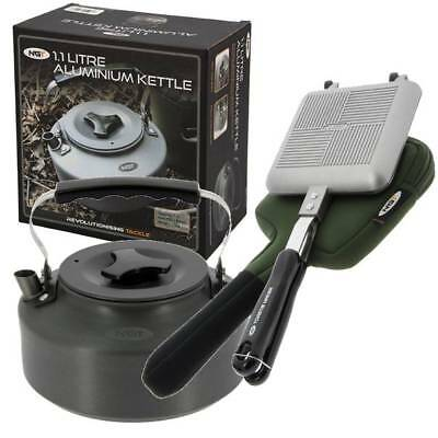 Ngt Bankside Sandwich Toastie Toaster Maker & Case With Carp Fishing Kettle