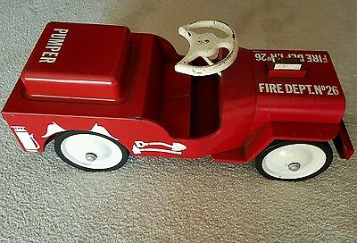 Vintage Structo Fire Dept. No. 26 Jeep Childs Ride On Toy