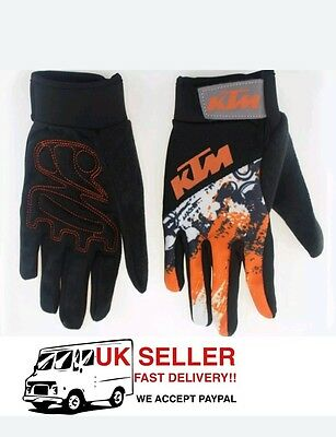 KTM Quality Motorcycle Gloves MTB dirt bike motocross  gloves cycling size large