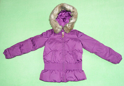 Juicy Couture purple hooded jacket coat with fur on hood for girl age 7 years