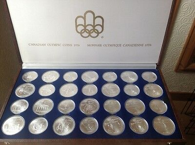 1976 canadian olympics 28 silver coin set