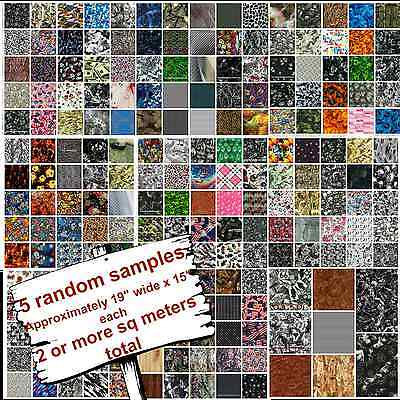 Hydrographic Film Water Transfer Printing Film Hydro Dip Assorted Sample 5 Pack