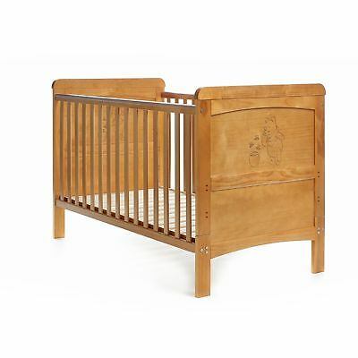 Disney Winnie the Pooh Deluxe Cot Bed (Country Pine) Country Pine NEW