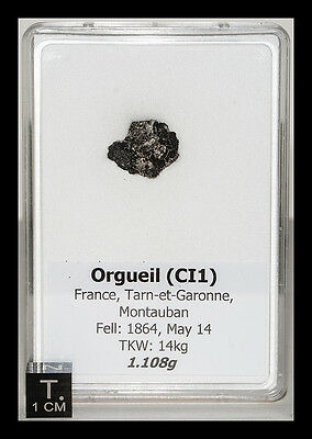 ORGUEIL - VERY RARE historic fall-Fell in 1864-Biggest meteorite HOAX in history