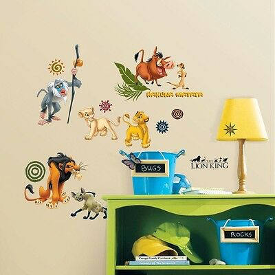 Lion King Peel & Stick Character Wall Decal Nursery Kids Bedroom Home Decor