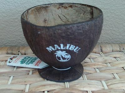 MALIBU REAL WOODEN COCONUT DRINKING CUP - Brand New
