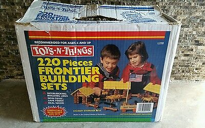 Vintage 1988 Toys-N-Things 220 Pieces Frontier Building Sets L220