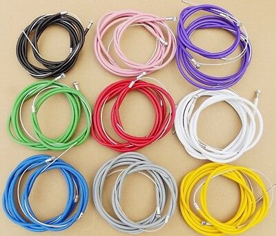 Bmx Coloured Outer Brake Cables, With Inner Cable. 9 Colours !!