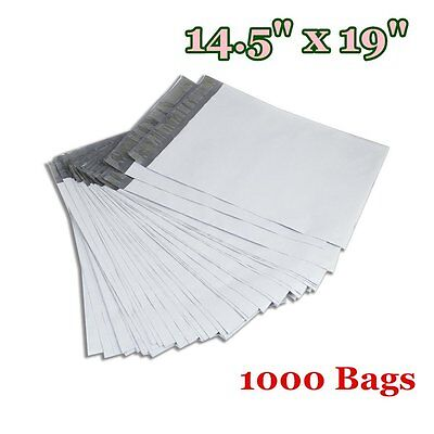1000 14.5 x 19 Poly Mailers Shipping Envelopes Self Sealing Plastic Bags 2.5 Mil