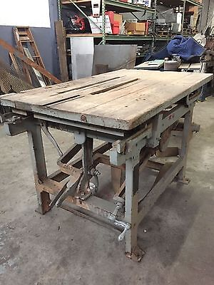 "Antique Beach 16"" Dual Arbor Vintage Sliding Table Saw"