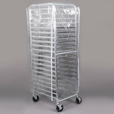 Regency 20 Pan End Load Full Height Bun / Sheet Pan Rack with Cover and 12 Pans