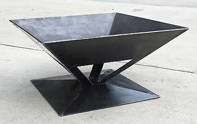 "NEW! 26"" Square Fire Pit, Solid Steel Wood Stove, Made In USA Campfire, FPRF06"