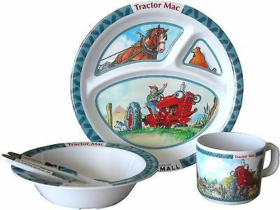 Case IH Farmall Tractor Mac 5pc Children's Dish Set